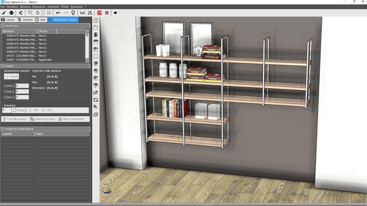Tesy software metron il configuratore grafico 3d per l for Software arredamento